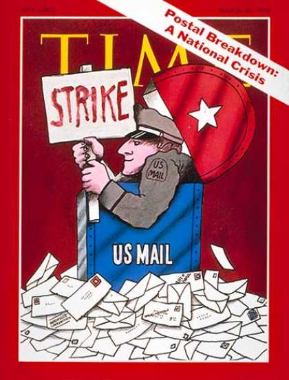 Time - U.S. Postal Strike - Mar. 30, 1970 - Labor Unions - Labor & Employment - U.S. Po