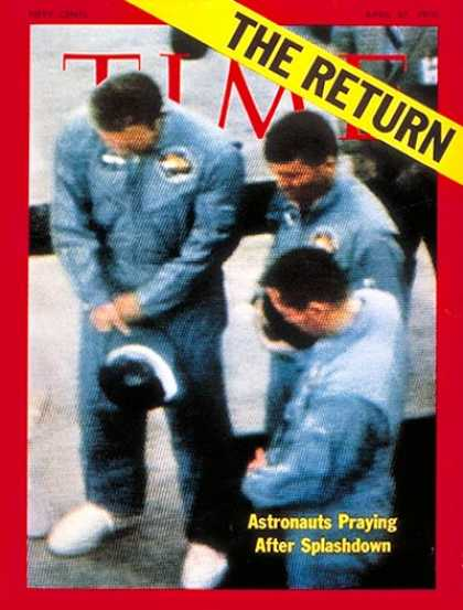 Time - Astronauts Lovell, Haise & Swigert - Apr. 27, 1970 - NASA - Astronauts - Space E