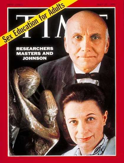 Time - Dr. William Masters and Virginia Johnson - May 25, 1970 - Sex - Family - Women -