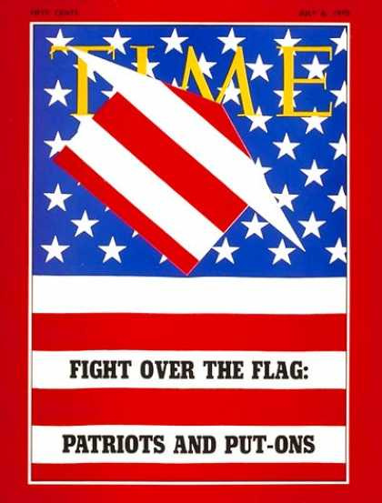 Time - Fight over the Flag - July 6, 1970 - Society - Politics - American Flag