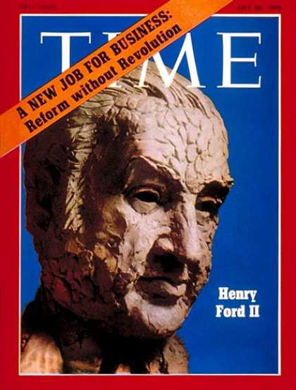 Time - Henry Ford II - July 20, 1970 - Cars - Automotive Industry - Transportation - Bu