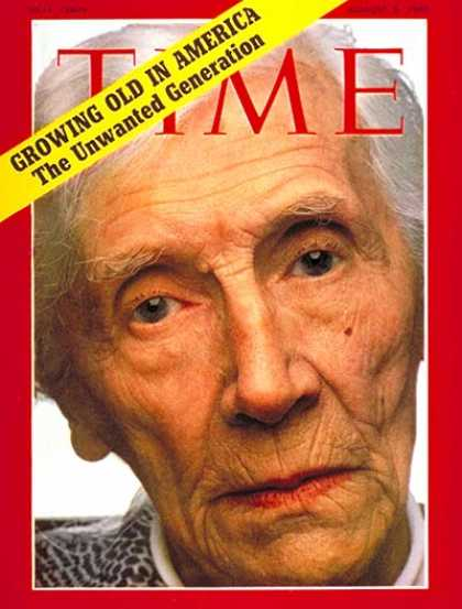 Time - Aged in America - Aug. 3, 1970 - Aging - Health & Medicine - Society - Family