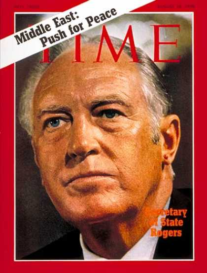 Time - William P. Rogers - Aug. 10, 1970 - Middle East