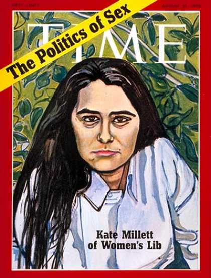 Time - Kate Millett - Aug. 31, 1970 - Sex - Society - Women - Politics