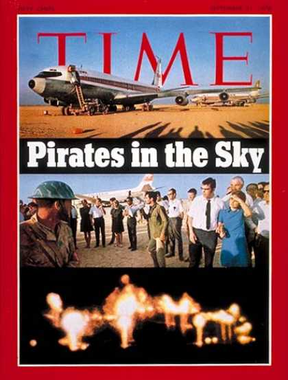 Time - Skyjacking - Sep. 21, 1970 - Air Safety - Travel - Hostages - Terrorism