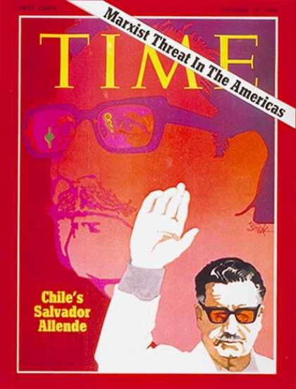 Time - Salvador Allende - Oct. 19, 1970 - Chile