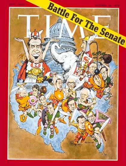Time - Battle for the Senate - Oct. 26, 1970 - Congress - Senators - Politics