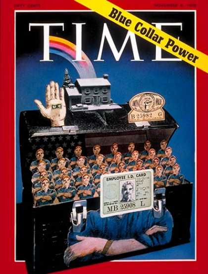 Time - Blue Collar Power - Nov. 9, 1970 - Labor Unions - Labor & Employment - Business