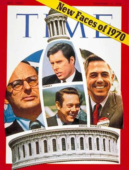 Time - New U.S. Senators - Nov. 16, 1970 - Congress - Senators - Politics