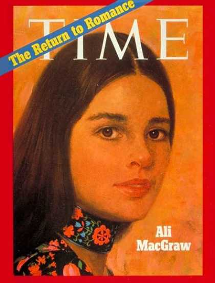 Time - Ali MacGraw - Jan. 11, 1971 - Actresses - Movies