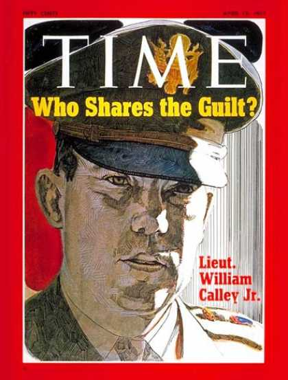 Time - Lt. William Calley Jr. - Apr. 12, 1971 - Vietnam War - Vietnam