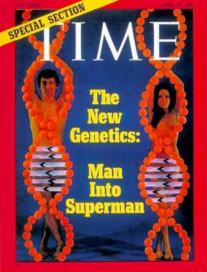 Time - The New Genetics - Apr. 19, 1971 - Genetics - DNA - Health & Medicine