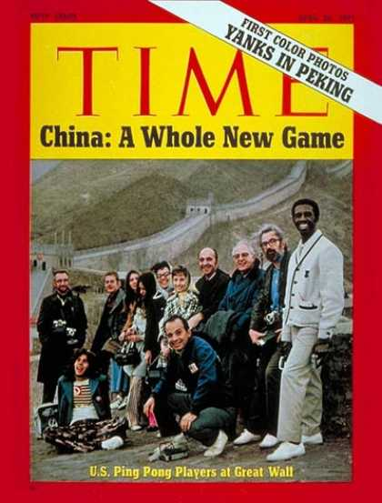 Time - Yanks in Peking - Apr. 26, 1971 - China