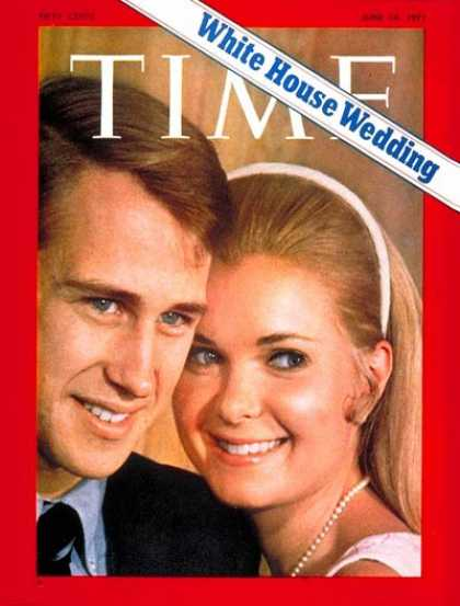 Time - Eddie Cox and Tricia Nixon - June 14, 1971 - First Families