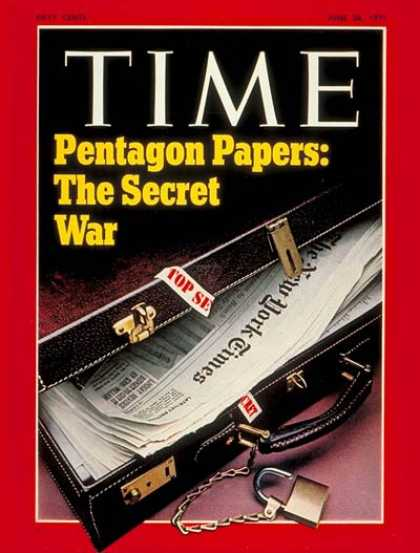 Time - The Pentagon Papers - June 28, 1971 - Publishing - Vietnam War - Politics