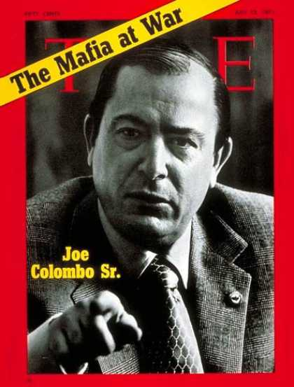 Time - Joe Colombo Sr. - July 12, 1971 - Organized Crime - Mafia - Crime - Law Enforcem