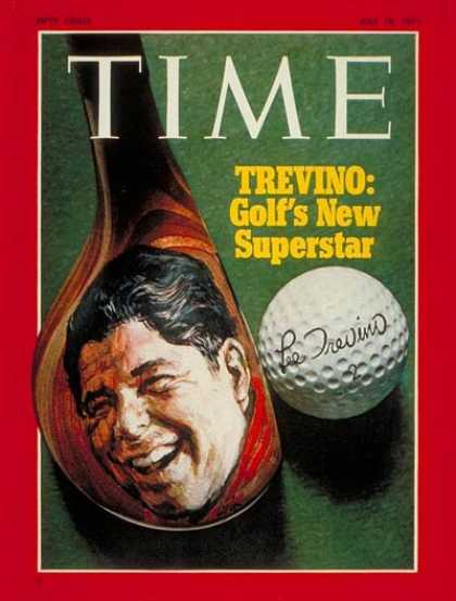 Time - Lee Trevino - July 19, 1971 - Golf - Sports