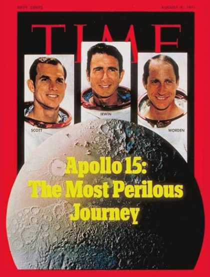 Time - Astronauts Scott, Irwin and Worden - Aug. 9, 1971 - NASA - Astronauts - Space Ex