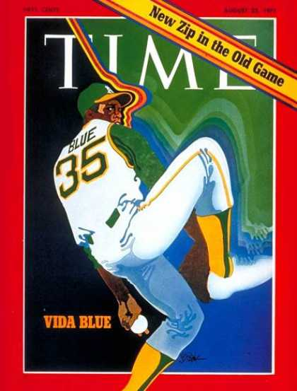 Time - Vida Blue - Aug. 23, 1971 - Baseball - Oakland - Sports