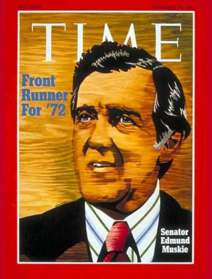 Time - Sen. Edmund Muskie - Sep. 13, 1971 - Congress - Senators - Politics