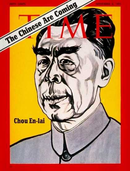 Time - Chou En-lai - Nov. 8, 1971 - China