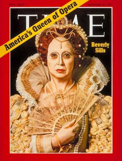 Time - Beverly Sills - Nov. 22, 1971 - Opera - Singers - Music