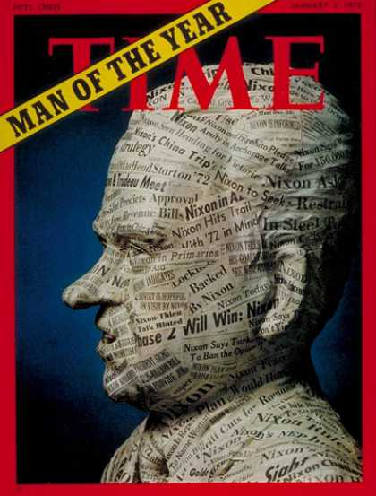 Time - Richard Nixon, Man the Year - Jan. 3, 1972 - Person of the Year - U.S. Presiden
