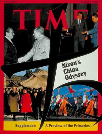 Time - Nixon in China - Mar. 6, 1972 - Richard Nixon - U.S. Presidents - China - Politi