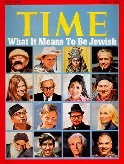 Time - What It Means to be Jewish - Apr. 10, 1972 - Religion - Judaism - Society
