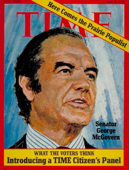 Time - Senator George McGovern - May 8, 1972 - George McGovern - Congress - Senators -