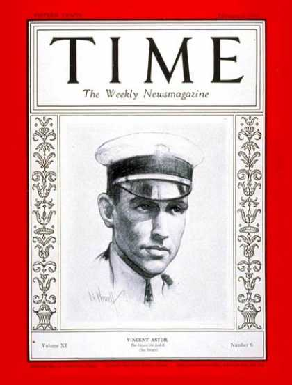 Time - Vincent Astor - Feb. 6, 1928 - Yachting - Business