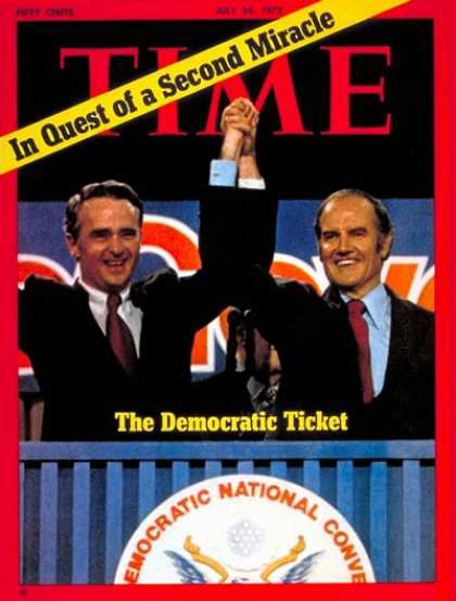Time - George McGovern and Thomas Eagleton - July 24, 1972 - George McGovern - Thomas E