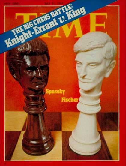 Time - Boris Spassky and Bobby Fischer - July 31, 1972 - Chess