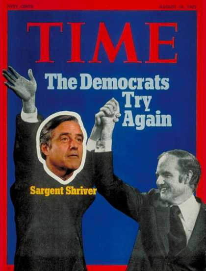 Time - Sargent Shriver and George McGovern - Aug. 14, 1972 - Sargent Shriver - George M
