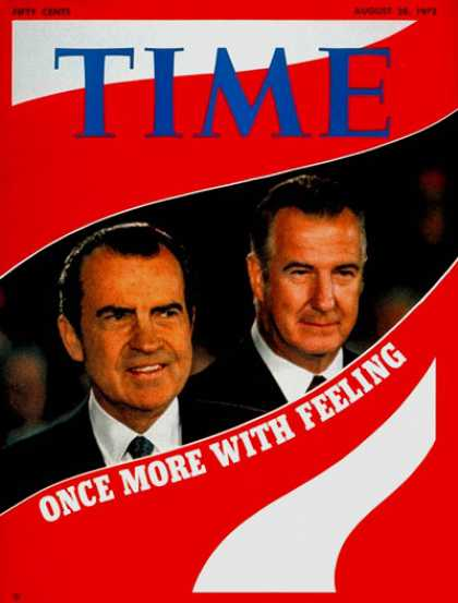 Time - Richard Nixon and Spiro Agnew - Aug. 28, 1972 - Richard Nixon - Spiro Agnew - U.