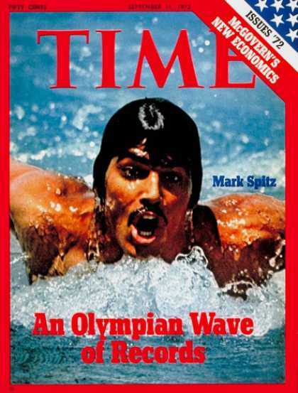 Time - Mark Spitz - Sep. 11, 1972 - Swimming - Olympics - Sports