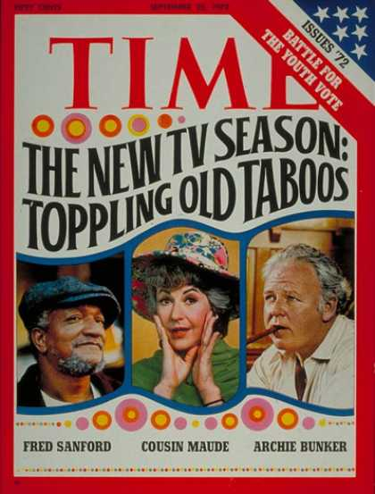 Time - New T.V Season - Sep. 25, 1972 - Television - Comedy - Actors - Actresses