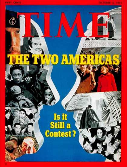 Time - Nixon and McGovern - Oct. 2, 1972 - Richard Nixon - McGovern - U.S. Presidents -