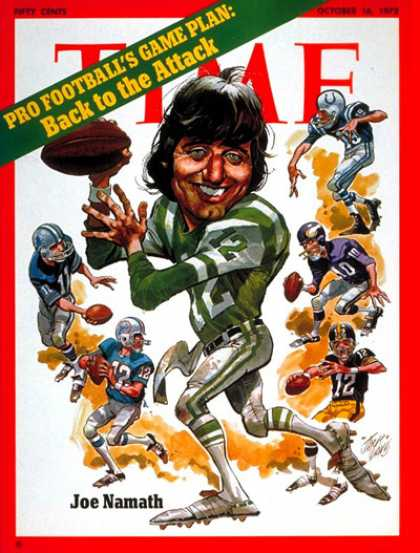 Time - Joe Namath - Oct. 16, 1972 - Football - Most Popular - Sports