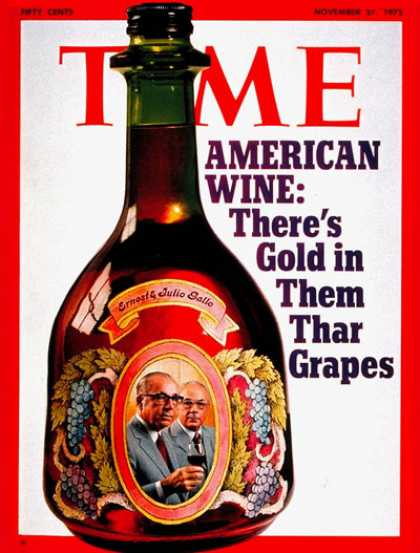 Time - Ernest & Julio Gallo - Nov. 27, 1972 - Wine - Business