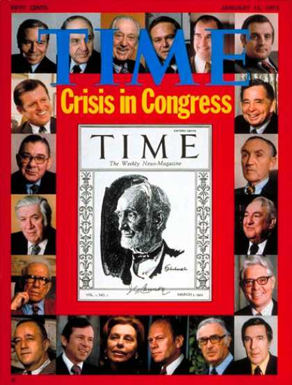 Time - Crisis in Congress - Jan. 15, 1973 - Politics