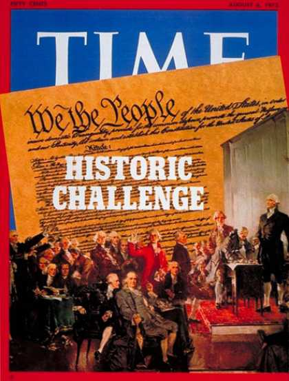 Time - Constitutional Challenge - Aug. 6, 1973 - Politics