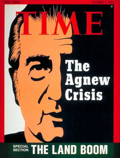 Time - Agnew on the Tightrope - Oct. 1, 1973 - Watergate - Vice Presidents - Politics