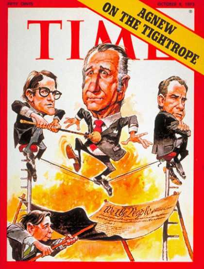 Time - Spiro Agnew - Oct. 8, 1973 - Watergate - Vice Presidents - Politics