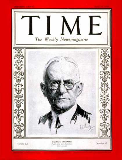 Time - George Eastman - Apr. 16, 1928 - Photography - Business