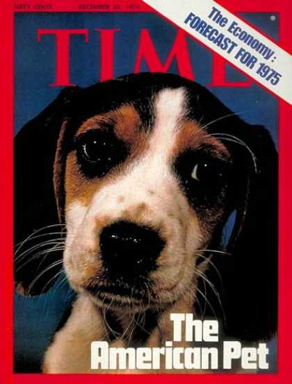 Time - The American Pet - Dec. 23, 1974 - Dogs - Animals