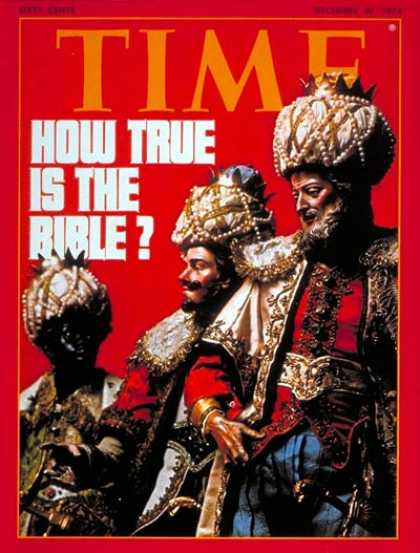 Time - The Bible - Dec. 30, 1974 - Religion - Catholicism - Christianity