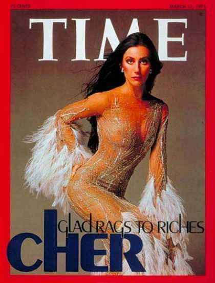 Time - Cher - Mar. 17, 1975 - Singers - Actresses - Television - Music