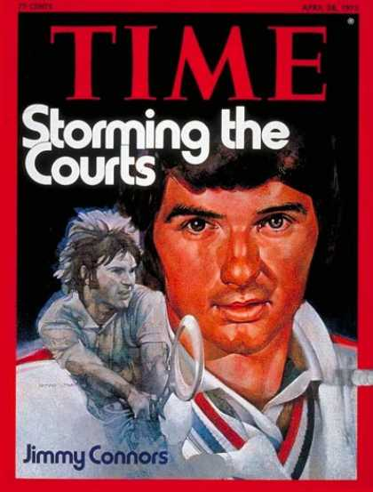 Time - Jimmy Connors - Apr. 28, 1975 - Tennis - Sports