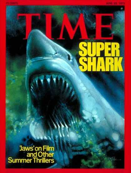 Time - Super Shark - June 23, 1975 - Sharks - Fish - Animals - Movies